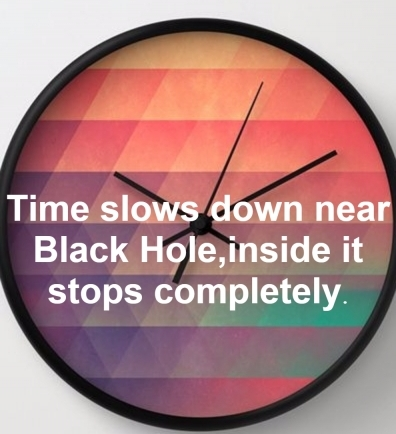 Time slows down near Black Hole,inside it stops completely.